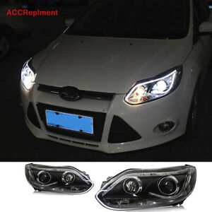 2pcs For Ford Focus Headlights Assembly 2012 2014 Double Beam Lens Projector New