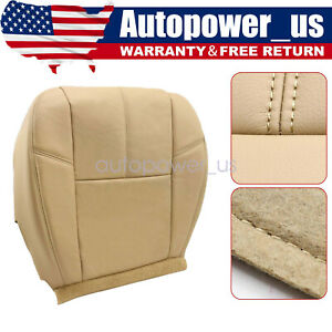 For 2007 13 Chevy Silverado 1500 2500 Hd Driver Bottom Leather Seat Cover Tan