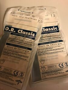 O R Classic Surgical Gloves Size 7 5 2 Pairs
