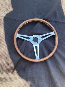 Moto Lita Shelby Mustang Oem Wood Rim Steering Wheel 15 With Rivets