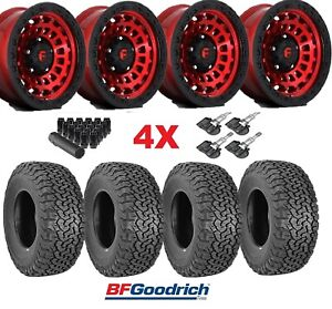 Fuel Zephyr Candy Red Wheels Rims Tires 285 70 17 Ko2 At Package 285 70 17