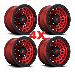17 Fuel Zephyr Candy Red Wheels Rims 17x9 Method Xd Rhino
