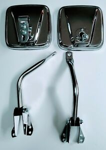 Jeep Cj7 Cj5 Willys Cj6 Cj3 Mirrors Rh lh Chrome