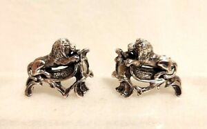 Miniature Sterling Lion Dollhouse 1 12 Pair Bookends