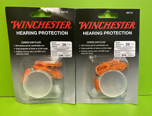 2 Pair Winchester Shooting Range Noise Hearing Protection Corded Ear Plugs 99776 $12.85