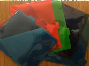 Plastic File Tab Dividers For Binder 6 Count