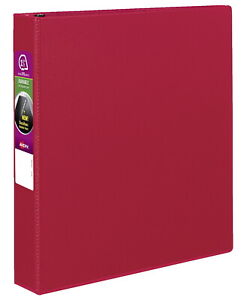 Avery Durable Binder With Slant Ring 1 1 2 Inches Red