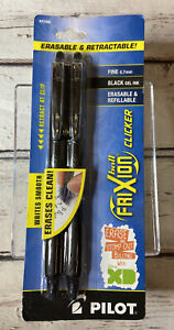 Pilot Frixion Clicker Erasable Gel Pens Fine 0 7mm Black Erasable Retractable