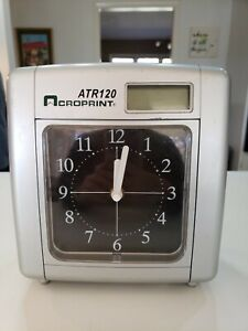 Acroprint Atr120 Analog Time Card Punch Clock Recorder Wall Mountable As Is
