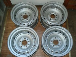 4 Chevrolet Gmc Truck 15x8 Rally Wheels 5 Lug Matched Code Date Nice Clean