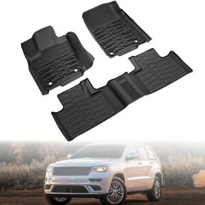 82215577ac Rubber Floor Mats For 16 20 Jeep Grand Cherokee Front Rear Mopar Us