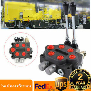 New Hydraulic Directional Control Valve Tractor Loader W joystick 2 Spool 25gpm