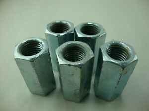 Lot Of 5 Barnes 7 8 9 X 2 1 2 Unc Steel Coupling Nut Threaded Rod Stop Pack Of 5