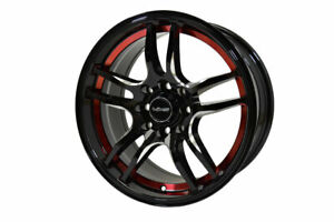 4x Gloss Black Milling Reaction Racing Wheel 15x7 4x100 114 3 35 Et 73 1 Cb