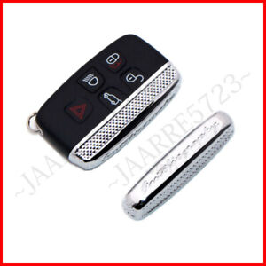 Chrome Remote Metal Key Side Cover Shell For Range Rover Sport Evoque Land Rover