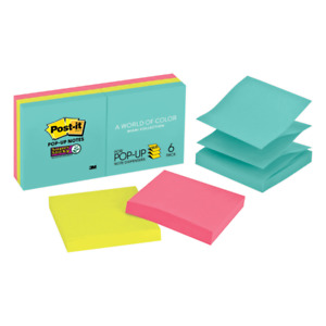 Post it Super Sticky Notes 3 x1 1 2 6 pd pk Multi