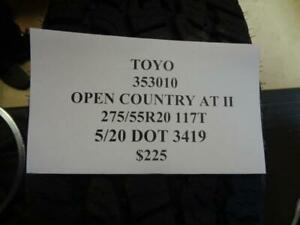 2 New Toyo Open Country At Ii 275 55 20 117t Tires 353010 Q0