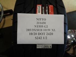 2 New Nitto Nt555 G2 285 35 18 101w Xl Tires W Label 211430 Q0