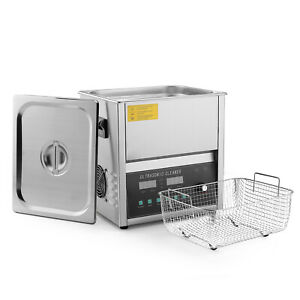 Commercial Ultrasonic Jewelry Cleaner Machine 10 Liter Sweep Degassing