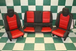 bag 12 15 Camaro Ss Coupe Black red Leather Power Buckets Backseat Seat Set