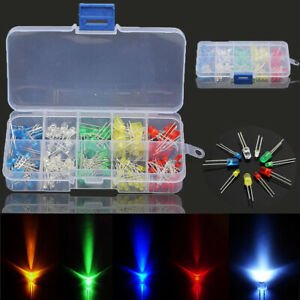 375pcs 3 5mm Led Diode Beads Resistance Light Kits Bulb Lamp Assortment S Y