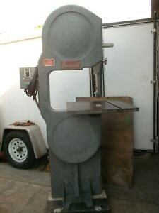 Davis Wells Oliver 20 Band Saw Baldor 2 Horsepower 220 440v 3 Phase Bandsaw