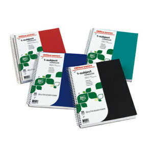 Office Depot Notebook 9 X 11 College Ruled 100 Sheets Assorted Colors