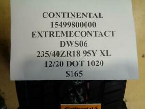 1 New Continental Extreme Contact Dws06 235 40 18 95y Xl Tire 15499800000 Q0