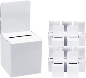 Donation Box For Suggestion Raffle Collection With Labels 6 1 X 6 1 X 12 5 10 Pk