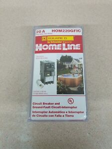 New Square D Hom220gfic Homeline 20 Amp Two pole Gfci Circuit