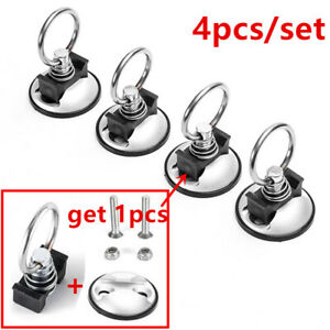 Anchor Tie Down Hooks Quick Release Points Fasten Truck Bed Studs Spings 4pc Usa