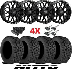 20 Gloss Black Wheels Rims Tires 265 50 20 Nitto G2 Blazer Colorado Canyon