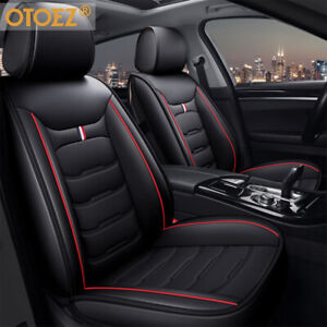 Full Set Car Seat Cover Durable Leather Universal Bucket Seat Cushion Protector