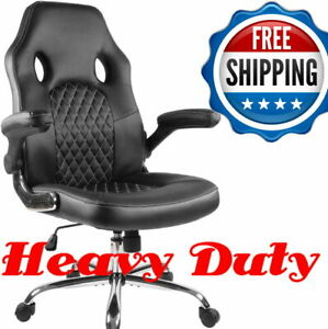 350lb Heavy Duty High Back Ergonomic Chair Home Office Desk Computer Pc Leather