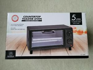 New Chef s Counter Countertop Toaster Oven 5 Liter Black Cc 608