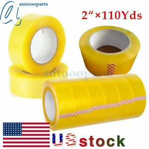 24 36 72 Rolls Clear Packing Tape 2 110yards Packaging Carton Sealing Tape Us
