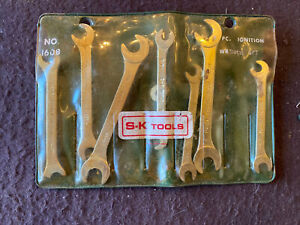 S K Tools No 1608 Miniature Ignition Wrench Set 7 Piece Usa Sk