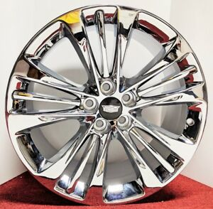 4 Super Rare Cadillac Oe Triple Chrome Plated 20 X 8 5 Wheels Fit Ct6 Cts Xts