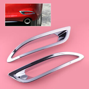 Chrome Rear Fog Light Cover Trim 1pair Fit For Mazda 6 18 20 Accessories New