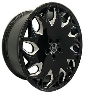 4 Gv06 20 Inch Staggered Black Mill Rims Fits Ford Shelby Gt 500 2007 2020