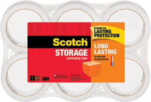 3m Scotch Moving Storage Packing Tape 6 Rolls Heavy Duty Shipping Packaging New