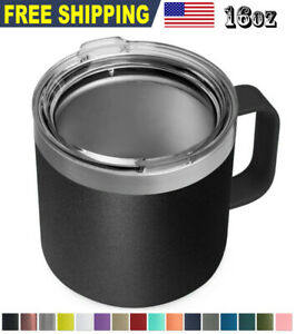 16oz Stainless Steel Mug Sip Lid Vacuum Double Wall Insulated Coffee Tumbler $14.89