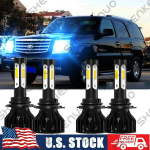 For Cadillac Escalade Esv High lo Beam 2003 2006 8000k Front Led Headlight Bulbs