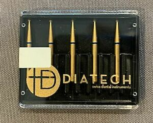 Diatech Dental Gold Diamond Burs Round Asst Sizes You Pick 5 Count