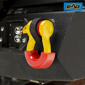 Eag 3 4 Red 4 75 Ton D ring Shackles With Isolator Silencer Clevis 1pc
