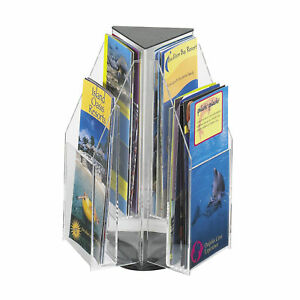 Safco Reveal 4 Pamphlet Tabletop Display 6 Compartment s Compartment Size