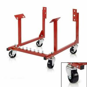 Auto Engine Cradle Stand For Chevrolet Chevy W Dolly Wheels 3 1000lb