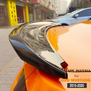 Glossy Black Trunk Spoiler Lip Wing Gt Gt350 Style For Mustang 2015 2020 Fits Mustang