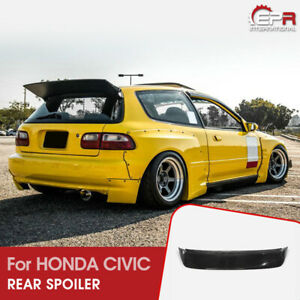 For Honda Eg Civic Hatch Back Rb Style Frp Unpainted Wide Body Rear Spoiler Wing
