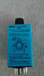 New Idec Electronic Timer Type Rte p2af20 100 240vac 11 Pin With Base